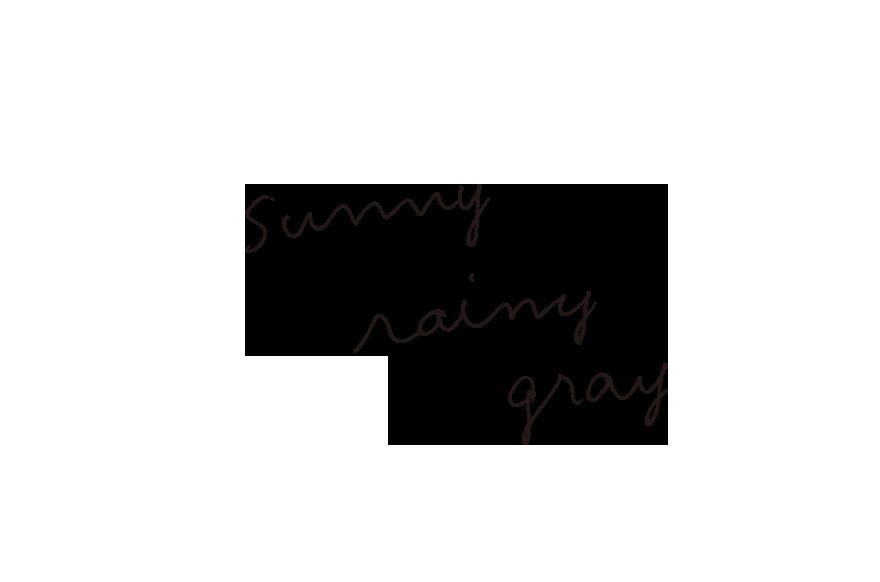 sunny rainy gray